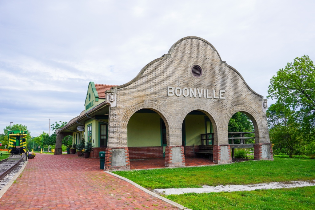 Old train depot in Boonville, MO.