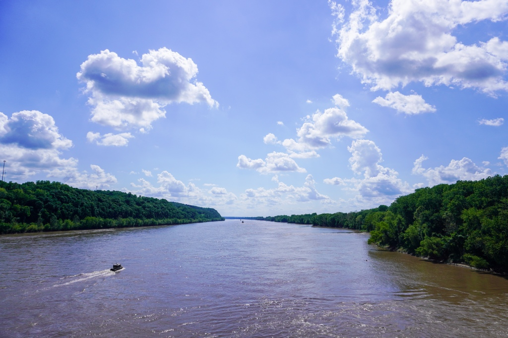 View while crossing the bridge into Hermann, MO.