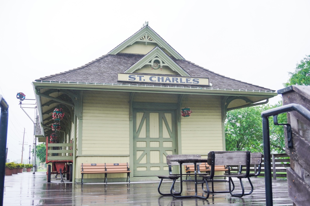 Old train depot in St. Charles, MO.