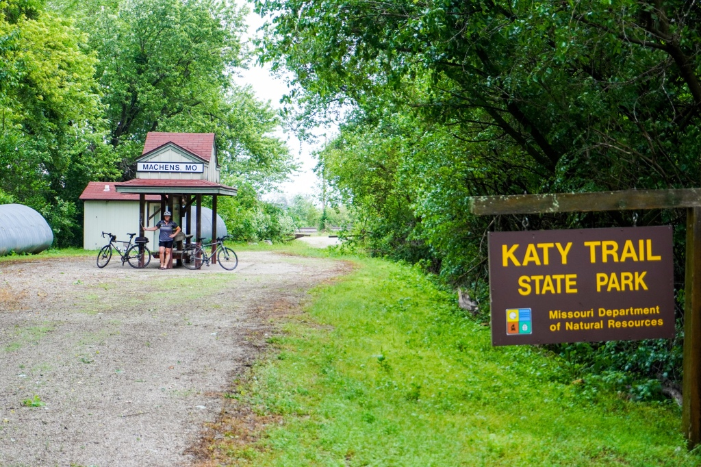 The end of the Katy Trail in Machens, MO.