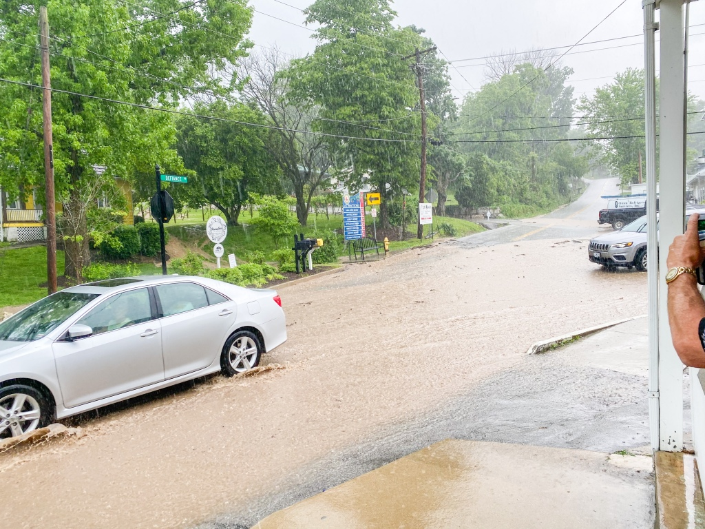 Flash flooding in Defiance, MO.
